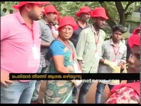 Relief in the banks of Periyar; natives returns to houses