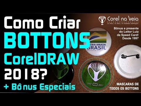 Como Fazer Bottons no CorelDRAW e Bônus Especial MockUps PSD e CDR