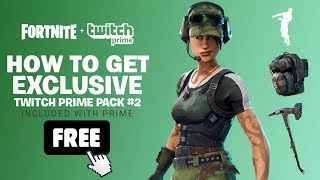 (UPDATED) How to get Fortnite Twitch Prime Pack #2 for FREE