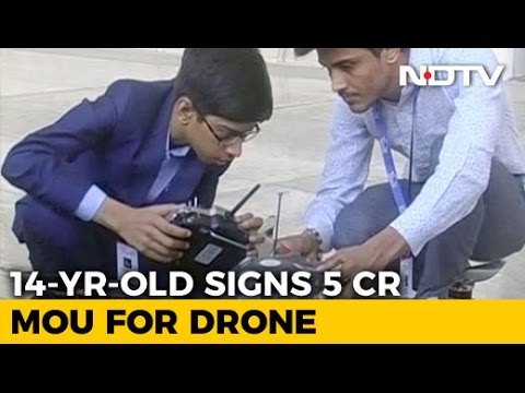 14-Year-Old Signs 5 Crore Deal For Production Of His Anti-Landmine Drone