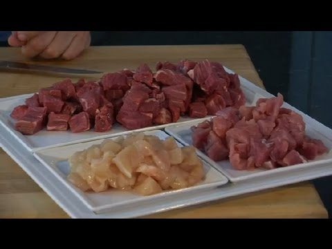 How To Cut Meat For Fondue : Meat Preparation Tips