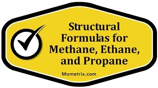 Structural Formulas for Methane, Ethane, and Propane