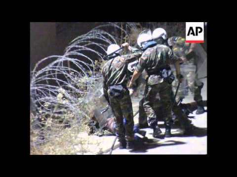 Cyprus: Illegal immigrants clash with police - 1998