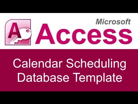 Microsoft Access Calendar Scheduling Database Template Youtube