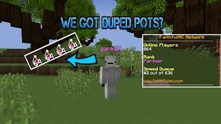WE GLITCHED AND GOT STACKED DUPED POTS ON SOTW?! - FaithfulMC 8.0