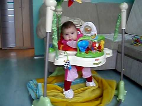 d5e451ca3 Jumperoo baby play Scarett age 4 month - YouTube
