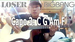 LOSER - BIGBANG Guitar Tutorial Easy Chords Cover | Viết Thành Nguyễn