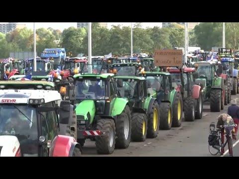TRECKER-DEMO: Bauernproteste gegen