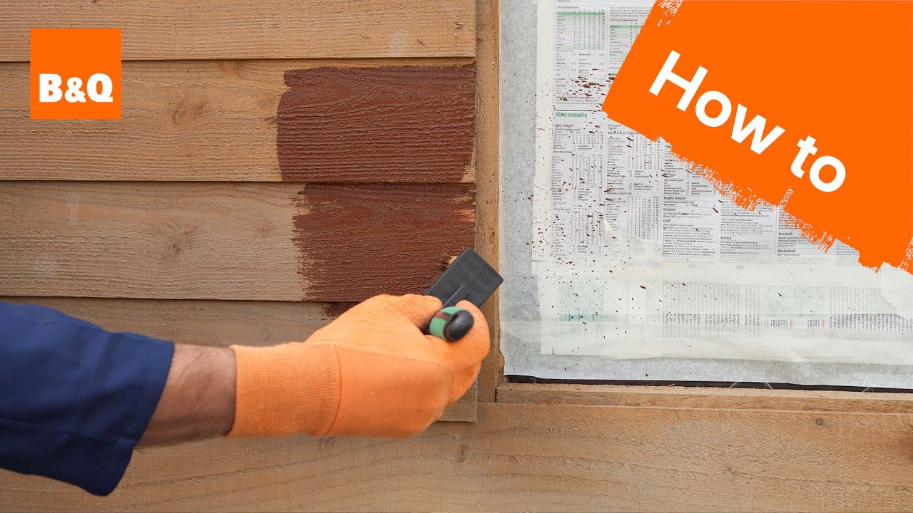 How to paint a shed or fence