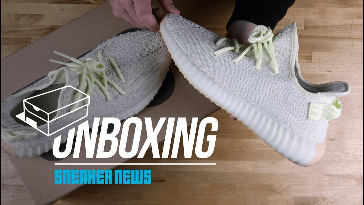 "first rate a6086 d3532 Unboxing The adidas Yeezy Boost 350 v2 ""Butter"""