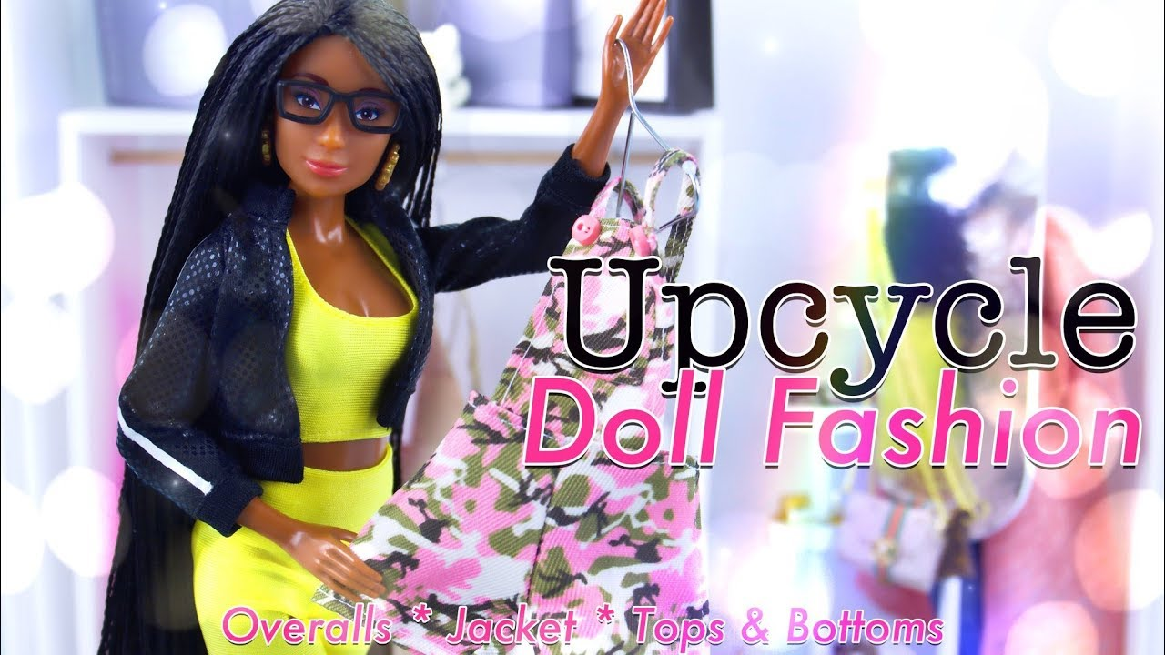 DIY - How to Make: Upcycle Doll Fashion, Tops | Bottoms | Jackets and more