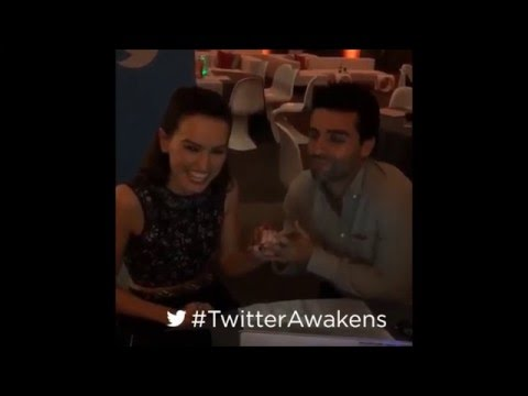 Daisy Ridley and Oscar Isaac sing together Baby, It's Cold Outside TwitterAwakens