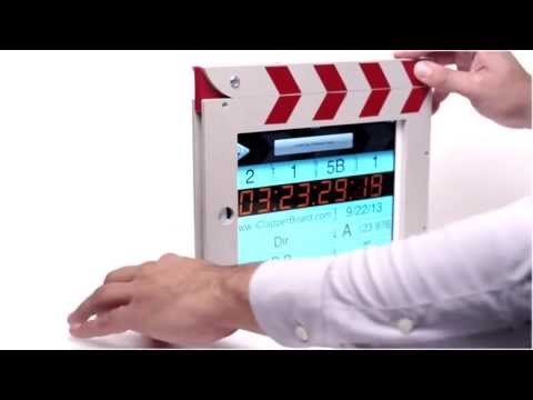 The iClapperBoard - V2 - iPad Clapper Board Case - iPad Movie Clapperboard NEW FULL VIDEO!