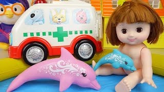 Baby Doll pool and Nancy Dolphin Rescue toys play thumbnail