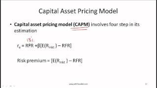 CFA Level I Cost of Capital Video Lecture by Mr. Arif Irfanullah part 2