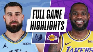 Game Recap: Lakers 115, Grizzlies 105