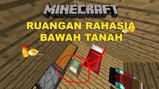 Minecraft Tutorial : Ruangan Rahasia Di Bawah Tanah !!!