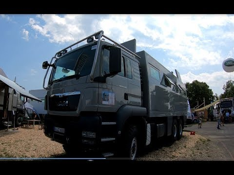 MAN TGS 26.480 BL 6X6 CAMPER TRUCK GLOBECRUISER 7500 FAMILY BY ACTION MOBIL WALKAROUND + INTERIOR