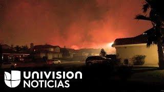Nuevo incendio en California genera pánico y la apresurada evacuación de varias familias