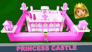 Building A HUGE Princess CASTLE In Bloxburg! (Roblox)