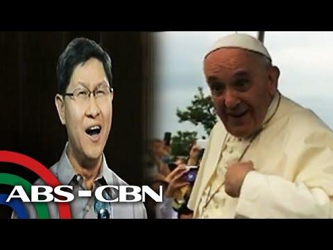 Cardinal Tagle umawit para kay Pope Francis