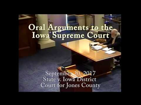 17–1023 State of Iowa v. Iowa Dist. Ct. for Jones County, September 20, 2017
