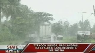 SONA: Typhoon Glenda, nag-landfall na sa Albay
