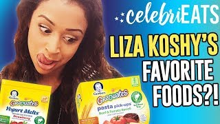 TASTING LIZA KOSHY'S FAVORITE FOODS?! | CelebriEATS