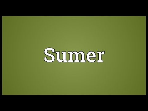Sumer Meaning