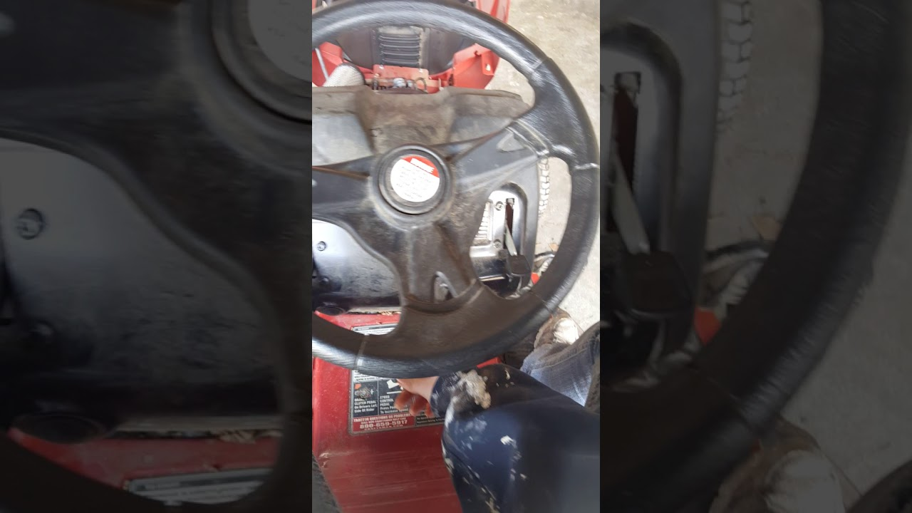 Strange metal scraping or grinding noise when driving lawn tractor