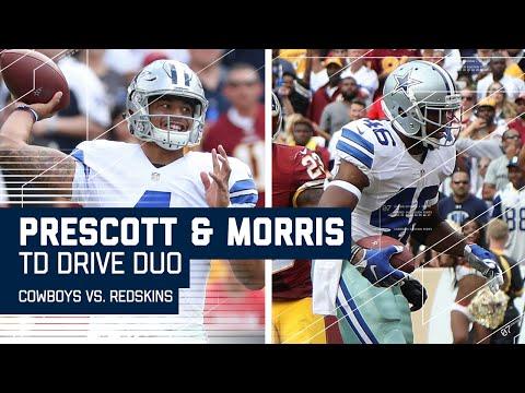 Prescott Leads Cowboys Downfield for Morris TD after Churchs INT  Cowboys vs. Redskins  NFL