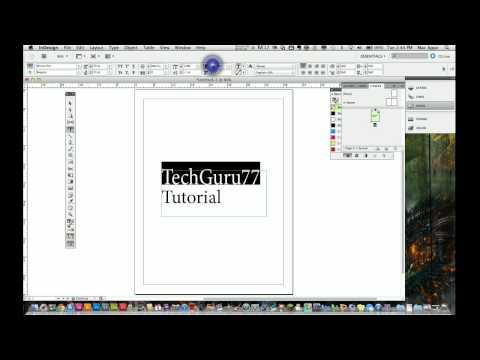 Adobe Indesign Cs5 Tutorial