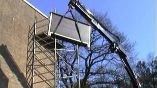 Mounting The Bat House On The Twm Building In Tilburg On March 2, 2004