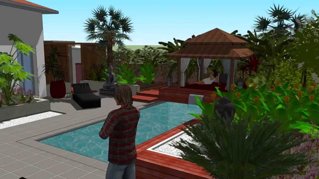 Sketchup pro animation 1 youtube for Sketchup jardin