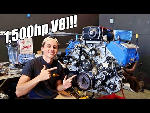 1,500hp Shelby 1000 Motor is COMPLETE! Built 5.8L V8 w/3.6L Kenne Bell Supercharger