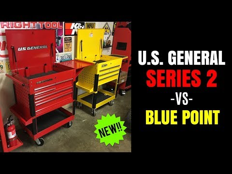 """NEW!! U.S. General SERIES 2 30"""" Tool Cart -vs- BLUE POINT (HARBOR FREIGHT -vs- SNAP-ON)"""