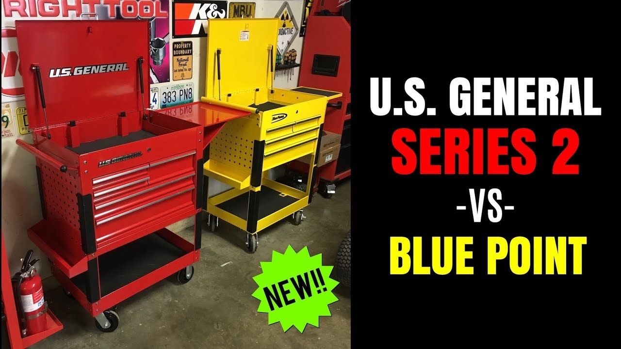 New U S General Series 2 30 Quot Tool Cart Vs Blue Point