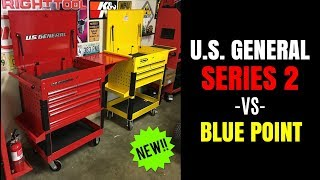 NEW U.S. General SERIES 2 30 Tool Cart -vs- BLUE POINT HARBOR FREIGHT -vs- SNAP-ON