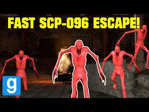 FAST SCP-096 IN A MENTAL HOSPITAL ESCAPE!   Garry's mod Sandbox