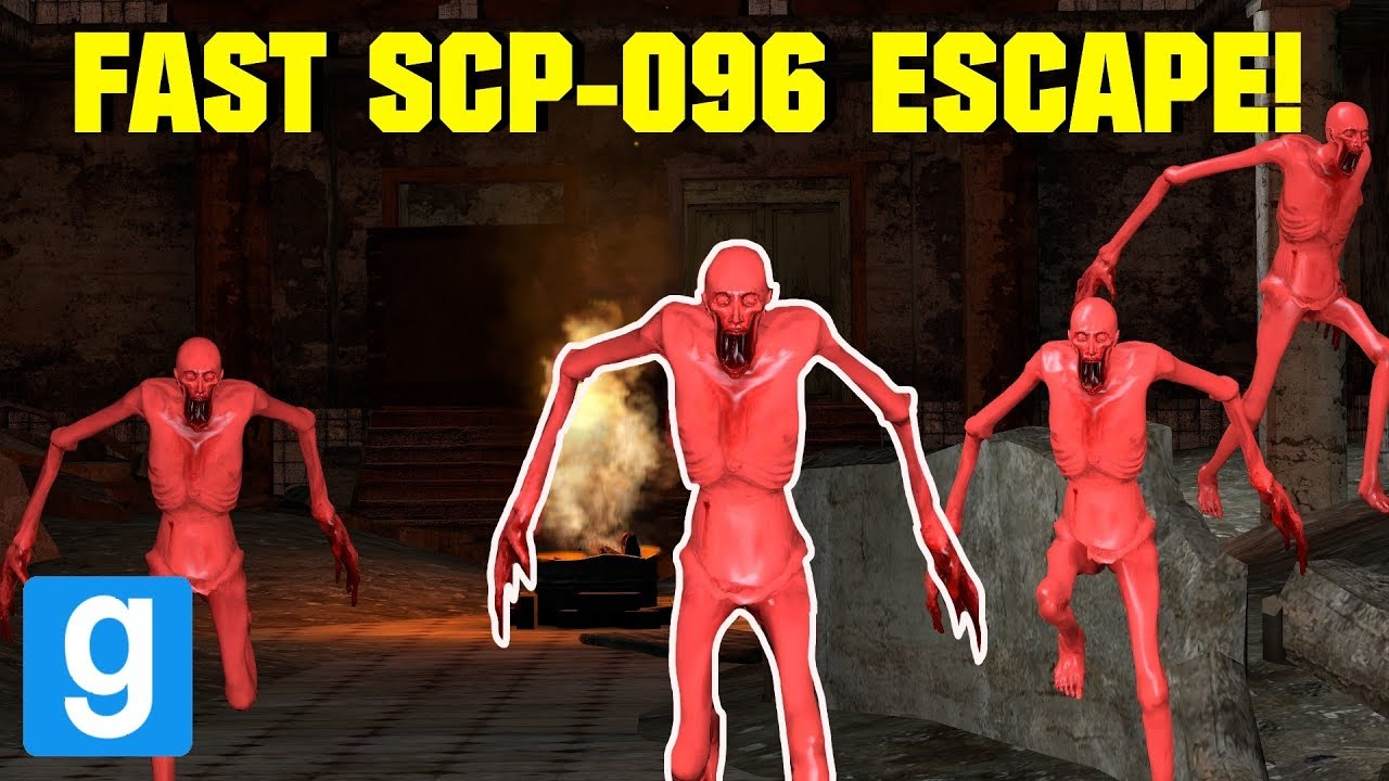 FAST SCP-096 IN A MENTAL HOSPITAL ESCAPE! Garry's mod Sandbox