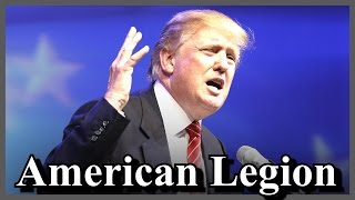 Donald Trump American Legion National Conference Convention in Cincinnati Ohio Remarks [ AMAZING ]