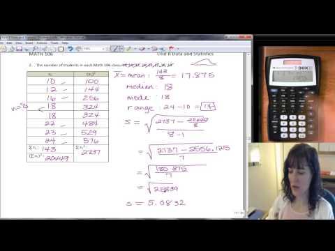 Mean And Std Dev (#2) TI-30X IIS