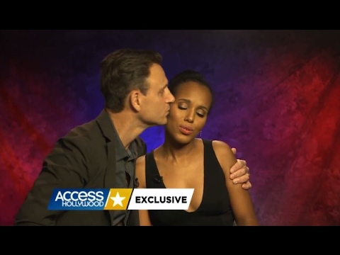 Kerry Washington & Tony Goldwyn on Access Hollywood :)) My f