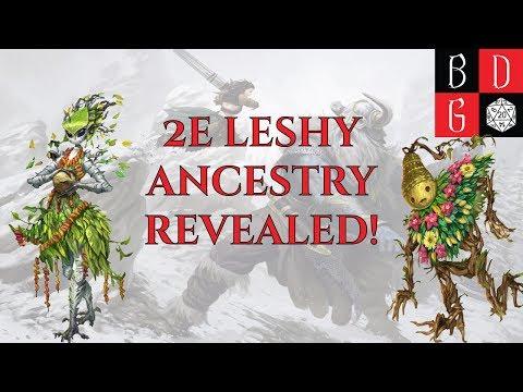 2e Leshy Ancestry REVEALED! PLANT PCS ARE A GO!