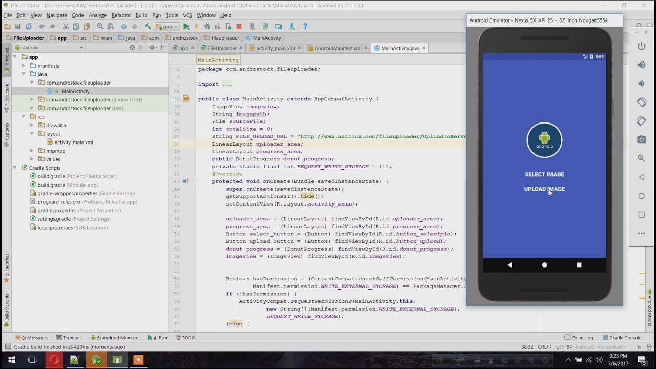 Create a File Uploader with Progress in Android – Android Studio