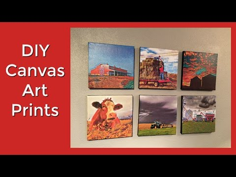 How to make canvas prints with your own photos DIY