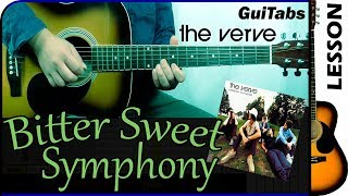 How to play BITTER SWEET SYMPHONY   The Verve / GUITAR Lesson  / GuiTabs #137