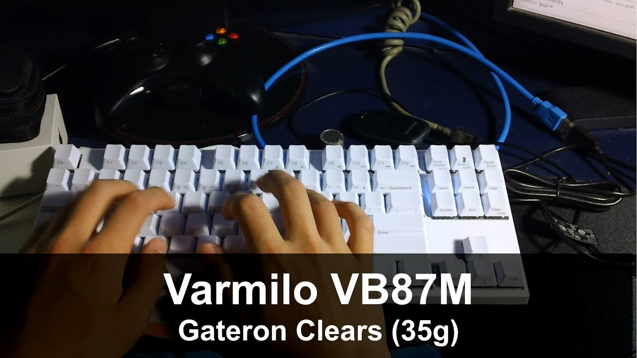 Varmilo VB87M Typing With Gateron Clear Switches