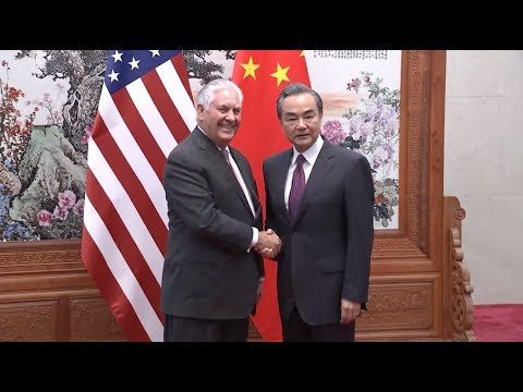 Chinese FM Meets US Secretary of State ahead of Trump Visit