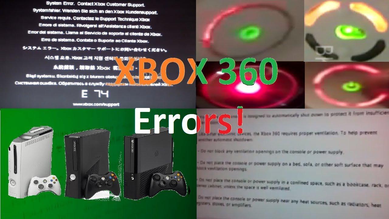 Xbox 360 All Errors! (REUPLOAD)